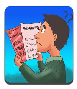 Ein Student grübelt über die Auswahl zwischen den richtigen Richtlinien